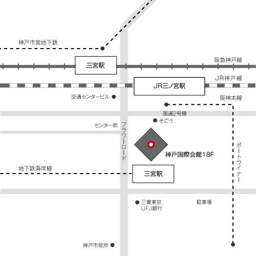 本社所在地の地図